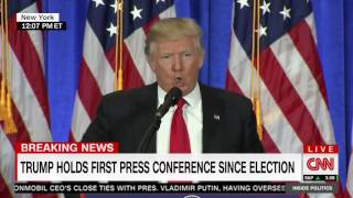 "Trump blasts CNN as ""fake news,"" refuses to allow Jim Acosta to ask a question"