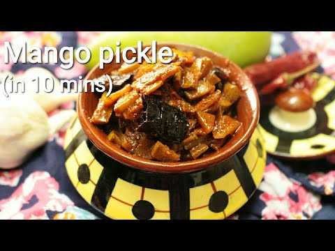 Mango pickle - South Indian style mango pickle recipe - Pickle recipe - Mango pickle recipe