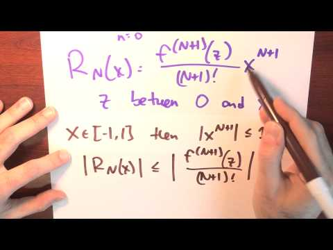 Approximately, what is cos x when x is near zero? - Week 6 - Lecture 8 - Sequences and Series