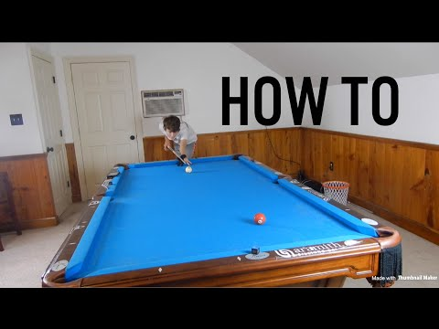 How to make long shots in pool