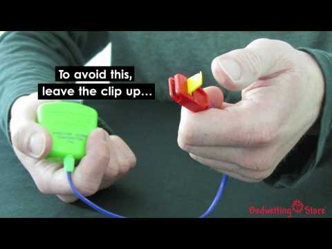 Bedwetting Store - Care Tip for Malem Wireles Bedwetting Alarm: Don't Leave the Clip Down