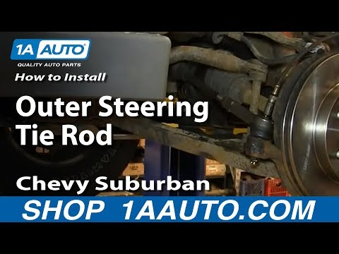How To Install Replace Outer Steering Tie Rod 2000-06 Chevy Suburban Tahoe GMC Yukon