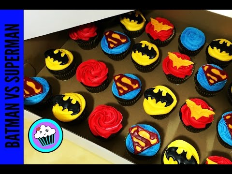 How to make Batman VS Superman Cupcakes | Pinch of Luck
