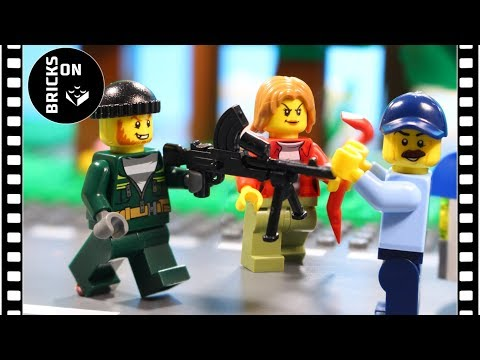 Lego Bank Truck Robbery / Lego City Police High Speed Chase Brickfilm Catch the crooks Stop Motion