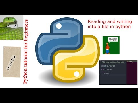 Reading and Writing into File in python|read and write|File i/o in python |Python Tutorial#15