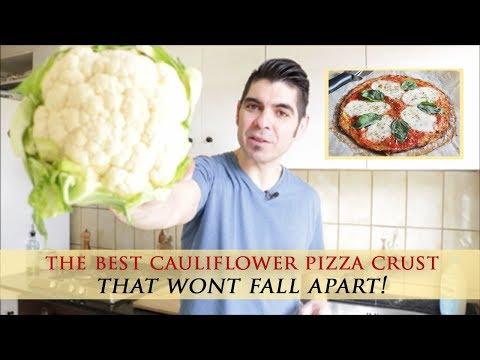 Easy Cauliflower Pizza Crust Recipe that won´t Fall Apart!