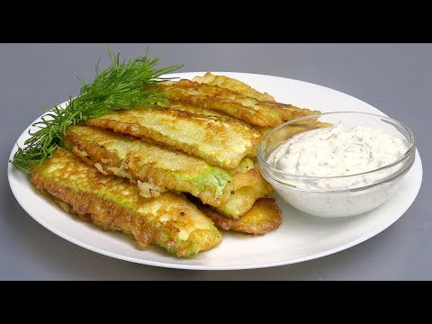 ADORABLE Fried Zucchini in Batter Recipe