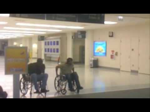Chicago Airport Wheelchair Race