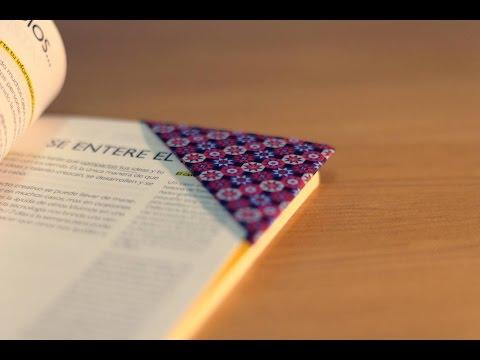 DIY ORIGAMI: Cómo hacer un marcapáginas - How to make a bookmark