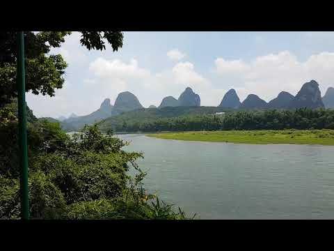 Yangshuo Lijiang river and mountains