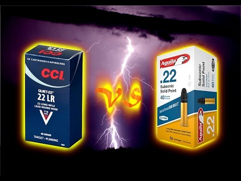 Ammunition Review: CCI QUIET vs Aquila Subsonic.  Which is best for stealth hunting?  With BLOOPERS!