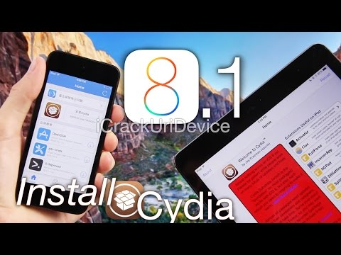 Install Cydia 8.1 Jailbreak iOS 8, Cydia Substrate For Pangu iOS 8.1 iPhone 6 Plus 5S,iPod 5 & iPads
