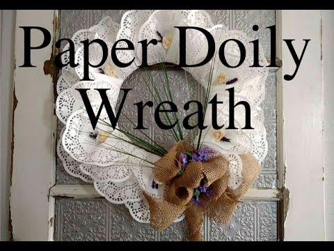 Paper Doily Wreath ^Super Cheap DIY*
