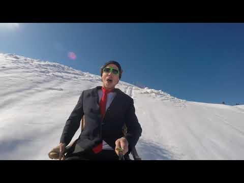 Riding a CUSTUM chair on skis!! WINTER DIARIES #4