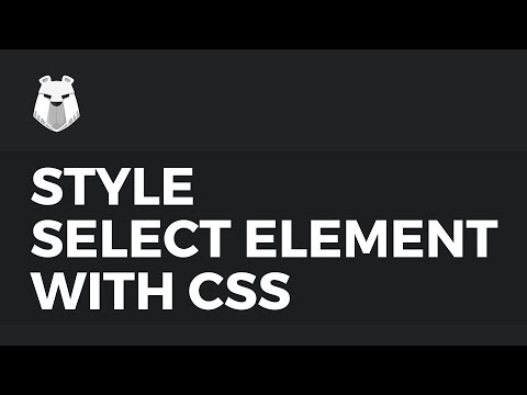 Learn how to style HTML Select element with CSS