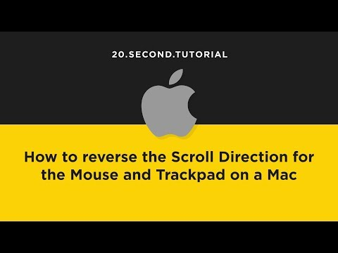 Reverse Scrolling Direction on a Mac | Mac Computer Tutorial #11
