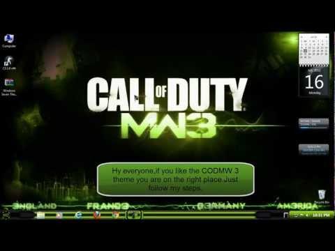 Windows 7 theme Call of Duty Modern Warfare 3