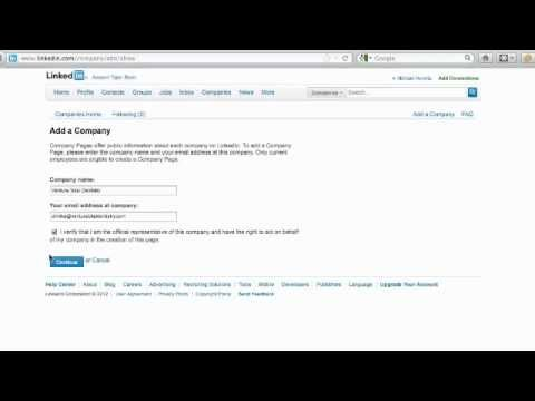 LinkedIn Business Page: Creating LinkedIn Company Page Video Tutorial