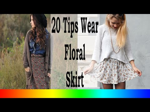 20 Style Tips On How To Wear Floral Skirts In The Winter