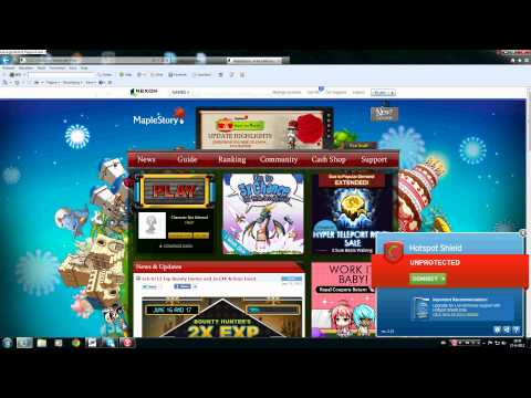 How to play MapleStory Global from Europe - Using Hotspot Shield