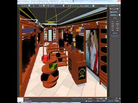 3D Model of Clothing Store Interior