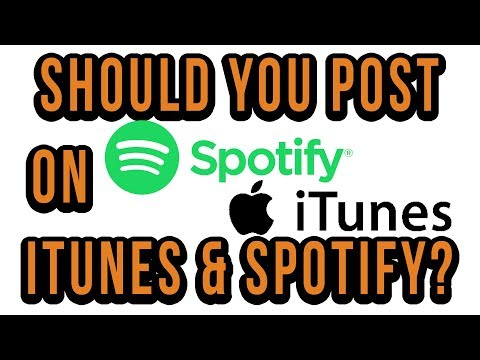 Should You Put Your Music On iTunes And Spotify?