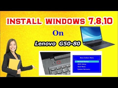 How to Install Windows 7,8,10 on Lenovo Laptops All Model || RJ Solution ||