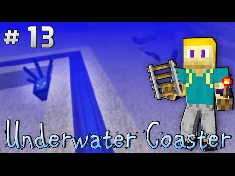 Minecraft: Underwater Coaster [Ep 13 | Let's Build a Roller Coaster Park]