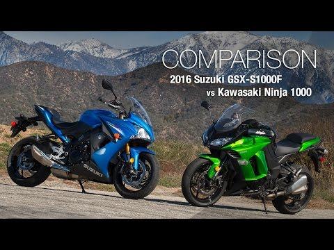 2016 Suzuki GSX-S1000F vs Kawasaki Ninja 1000 - MotoUSA