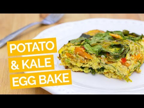 Spicy Sweet Potato, Kale & Cauliflower Egg Bake Recipe
