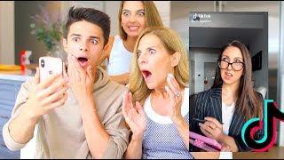 MOM REACTS TO TIKTOK TRENDS!   Brent Rivera