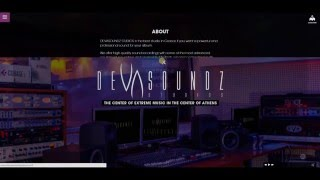 Devasoundz Studios Website Showcase