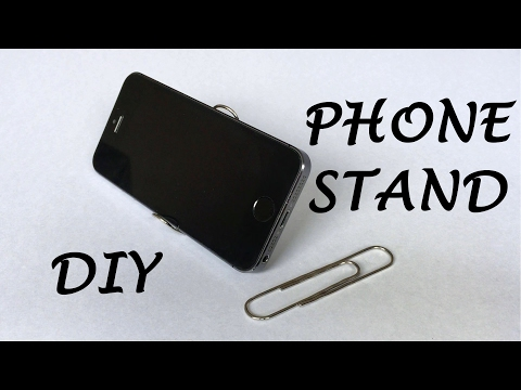 How to Make a Phone Stand Out of a Paper Clip