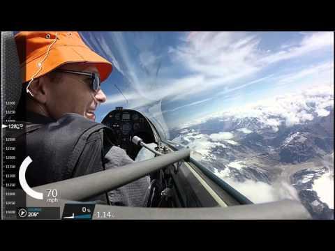 Omarama soaring flight to Mt Cook, New Zealand