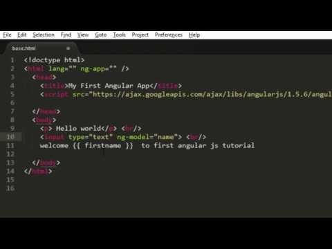 AngularJS Tutorial for Beginners - Hello World in Angular JS