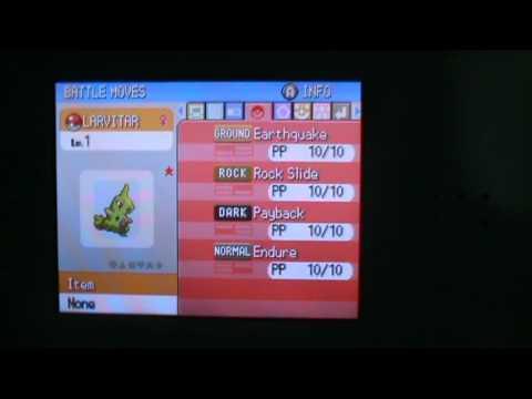 Shiny Larvitar (Pokemon Diamond)