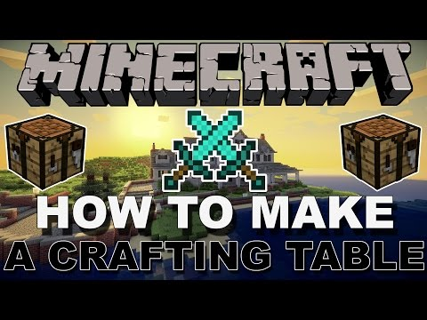HOW TO MAKE A CRAFTING TABLE IN MINECRAFT! (PS4/XBOX/PC)