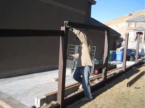 Trex Fencing Installation - Additional prep for the top rail