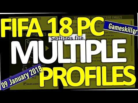 FIFA 18 - How to create multiple settings file profiles on PC (second account)
