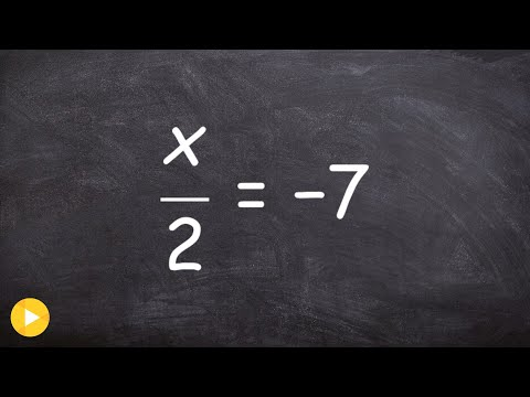 How to solve a one step equation with a fraction