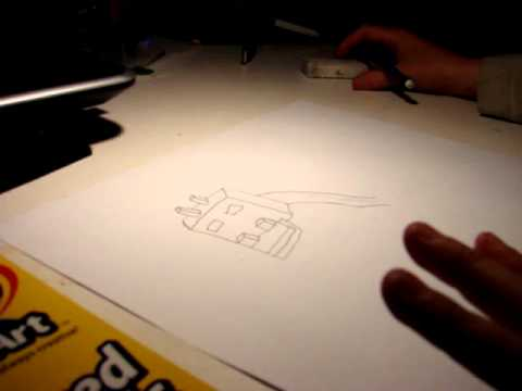 How to draw an ender dragon (minecraft) part 1