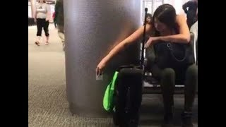 Prankster Puts Up FAKE Outlets In Airport   What