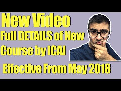 CA New Syllabus   Full details issued by ICAI