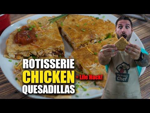 QUICK MEAL Rotisserie CHICKEN Quesadillas Recipe