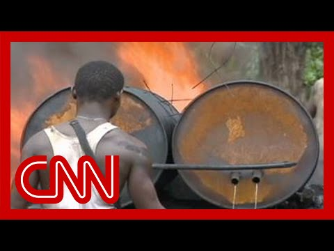 Nigeria's illegal oil refineries
