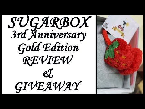 Sugarbox 3rd Anniversary Gold Edition 2018 | Giveaway Results | Unboxing & Overview | Fat to Fab