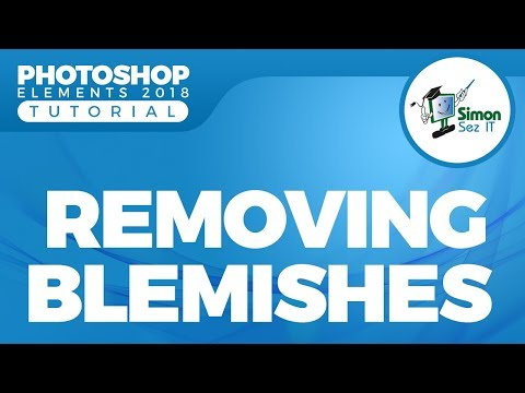 How to Remove Blemishes in Photoshop Elements 2018 Using Spot Healing Brush