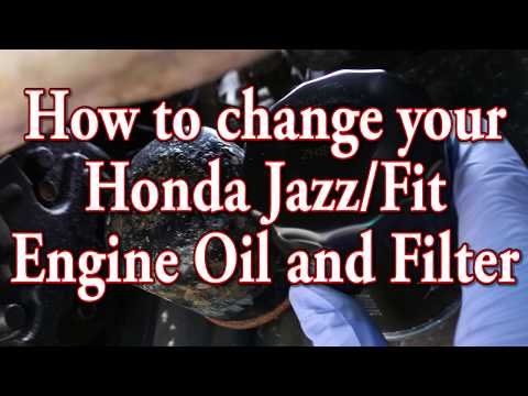 How to change your Honda Jazz/Fit engine oil and oil filter