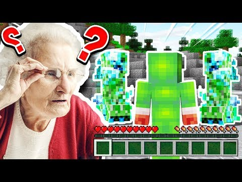 PLAYING MINECRAFT WITH MY GRANNY!