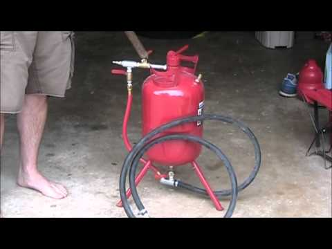 How to use a cheap sand blaster